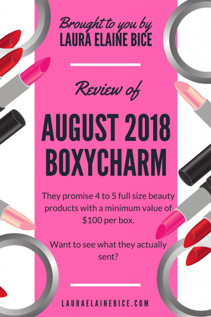 Unboxing BOXYCHARM August 2018